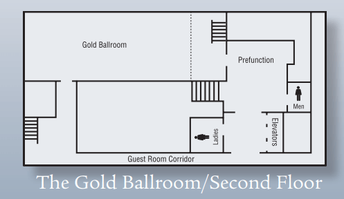 The Gold Ballroom space chart.