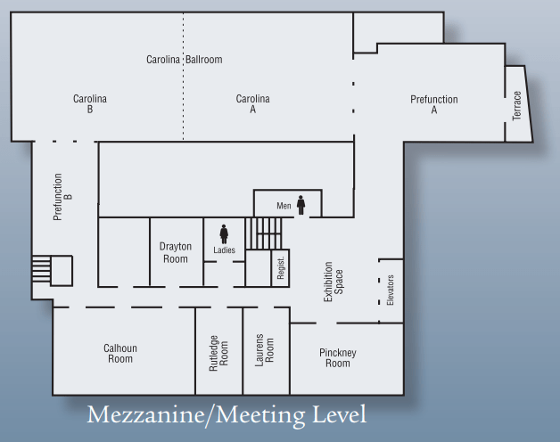 Mezzanine Level space chart.